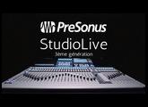 Console audionumérique Presonus STUDIOLIVE de 3ème génération (vidéo de La Boite Noire)