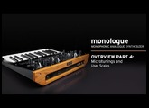 Korg monologue Video Overview Part 4: Microtunings and User Scales