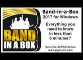 Band-in-a-Box 2017 for Windows in less than 6 minutes!