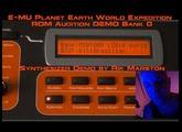 E-MU Planet Earth World Expedition Proteus 2000 ROM Audition DEMO Bank 0 PK-6 EMU