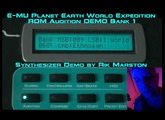 E-MU Planet Earth World Expedition Proteus 2000 ROM Audition DEMO Bank 1 PK-6 EMU