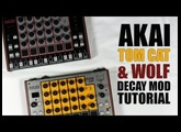 Akai rhythm WOLF / tom CAT DECAY MOD TUTORIAL