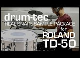 Roland TD-50 KV drum-tec Live Sound Edition (part 2/2): Real Snare Sample Package