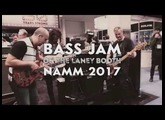 Bass Jam on the Laney NAMM booth 2017
