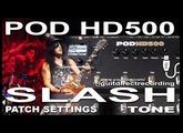 POD HD500 SLASH Tone MARSHALL Simulation [PATCH - USB Recording].