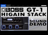 BOSS GT-1 HIGAIN STACK distortion - Sound Demo [Review].
