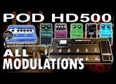 POD HD500 MODULATION Effects [All Modulations] GUITAR PATCHES USB Rec.