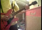 Marshall class5 red steel guitar Loïc LePape