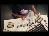 Joey Gage in the studio with the Hyve Touch Synthesizer