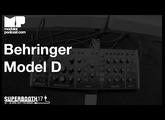 Superbooth 2017 - Behringer Model D Raw Sounds