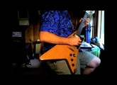 Me playing my Gibson Moderne Guitar & wearing a Cool Hawaiian shirt
