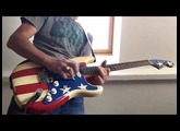 Fender Strat Wayne Kramer - neck and middle pickup (humbucker) tone comparison