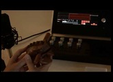 Sample a wooden frog for use in Percussa Synthor System 8 WaveOscillator