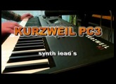 KURZWEIL PC3  - synth leads