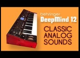 BEHRINGER DEEPMIND 12   CLASSIC ANALOG SOUNDS by AnalogAudio1   HD DEMO