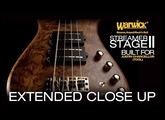 Warwick Custom Shop Masterbuilt: Streamer Stage II Bubinga Pommelé for Justin Chancellor #3377