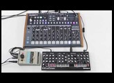 The Roland SE-02 - It sounds great! ...with percussion from Arturia's Drumbrute.