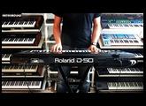 """Roland D-50 Synthesizer  """"Visit LA 1987"""" no D-05"""