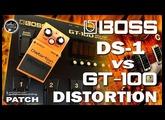 BOSS DS-1 vs GT-100 Distortion - Analog vs Digital Drives [USB Recording].