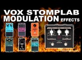 VOX Stomplab MODULATION Effects - Chorus, Flanger, Phaser, Rotary, Tremolo, AutoWah...