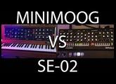 Do they sound the same??! - MiniMoog Model D - VS - Roland SE-02