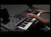 Live Control knobs / sliders - mixing & sound shaping Voices with filters. Yamaha Genos