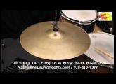 '70's Era Zildjian A New Beat Hi-Hats 14'' - The Drum Shop North Shore