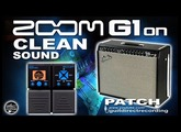 ZOOM G1on CLEAN Sound G1xon FENDER Amp Simulation.