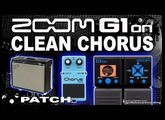 ZOOM G1on CLEAN CHORUS G1xon Fender Twin Simulation [Guitar Patches].