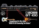 "Complement to the video ""BOSS GT-100 Connecting Two Guitars, ACOUSTIC and ELECTRIC GUITARS""."