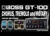 BOSS GT-100 Clean Chorus, Rotary (CTL) and Tremolo (Loop Pedal) PATCH SETTINGS.