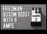 Friedman Buxom Boost - Review with 8 Amps (2nd upload)