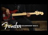 Squier Deluxe Dimension Bass IV Demo | Fender