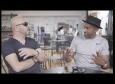 Marcus Miller with Marco De Virgiliis at Markbass