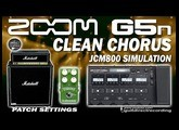 ZOOM G5n CLEAN CHORUS - Corona TC Electronic and Marshall Simulation.