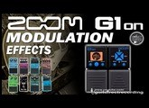 ZOOM G1on MODULATION Effects G1xon - Chorus, Phaser, Flanger, Pitch Shifter...