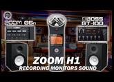 Zoom G5n vs BOSS GT-100 by Monitors Speakers. ZOOM H1 Audio Recorder.