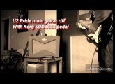 U2 Pride main guitar riff - Test Korg SDD3000 pedal with US Strat and Fender Vaporizer
