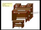 universal keyboards computer desk concept DEKI (tm) hammond type cabinet, ikea style