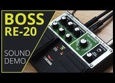 BOSS RE-20 Space Echo Sound Demo (no talking) with Novation Peak