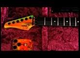 Suhr Edição Limitada 80's Shred Modern Neon Drip com pedal Riot