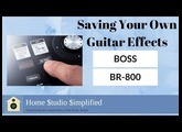 Saving BOSS Guitar Settings