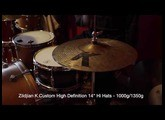 "Zildjian K Custom High Definition 14"" hi hat cymbals - Swiss Cymbals Demo #2 (SOLD)"