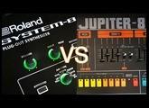 Roland JUPITER-8 VS SYSTEM-8: Quick test & waveform comparison
