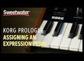 Korg Prologue Assigning an Expression Pedal