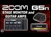 ZOOM G5n into Stage Monitor, Input Guitar Amp and JCM900 Effects Loop.