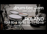 Roland TD-9 upgrade with drum-tec Jam electronic drum pads