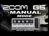 ZOOM G5 MANUAL MODE. Clean, OD, Dist, Pre Amp, Flanger, Chorus, Delay, Reverb.