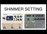 Boss DD 500 vs Strymon Timeline Shimmer Ice Setting