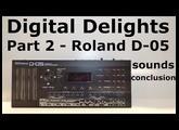 Roland Boutique D-05 sound demo & conclusion